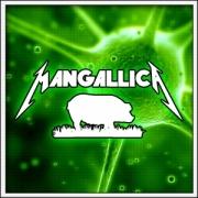 Humorné vtipné svietiace tričko Mangallica s motívom paródie Metallica
