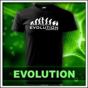 Originálne vtipné evolution svietiace tričká. Vtipné športové motívy