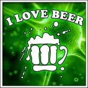 Vtipné svietiace pivné tričko i love beer humorný alkohol darček